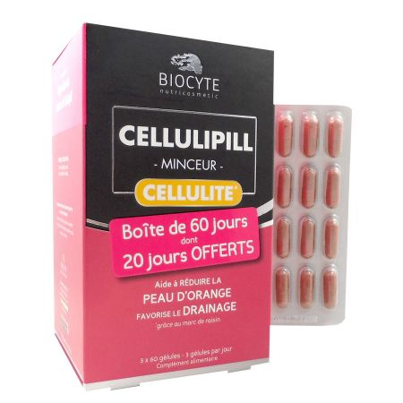 Pack Cellulipill Biocyte 60 Gélules LOT de 3