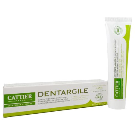 Cattier Dentifrice Anti Plaque Dentaire Dentargile Anis 75ml