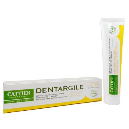 Cattier Dentargile Citron Dentifrice Reminéralisant 75ml