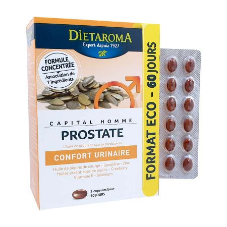 Capital Homme Prostate Dietaroma PACK 2 mois 120 capsules