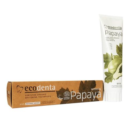 Dentifrice blanchissant bio Ecodenta Papaya 100ml