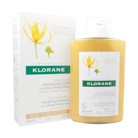 Shampooing soin soleil Klorane à la cire d\'ylang-ylang 200ml