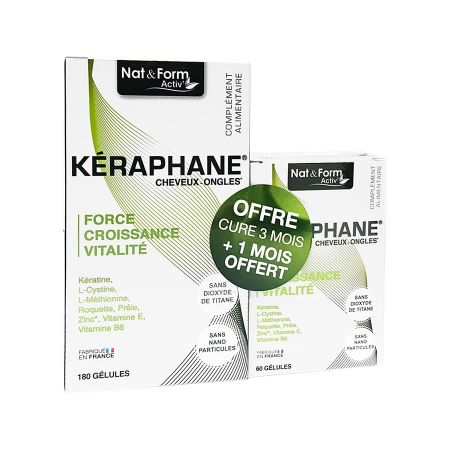 Keraphane cheveux & ongles Nat & Form 180 + 60 gélules