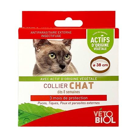 Collier antiparasitaire chat x 1 Vétobiol