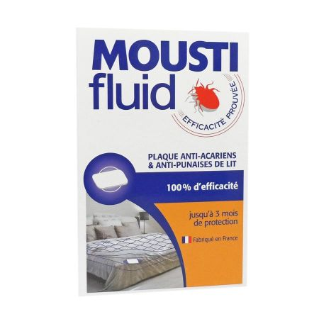 Moustifluid plaque anti-acariens & anti-punaises de lit x1