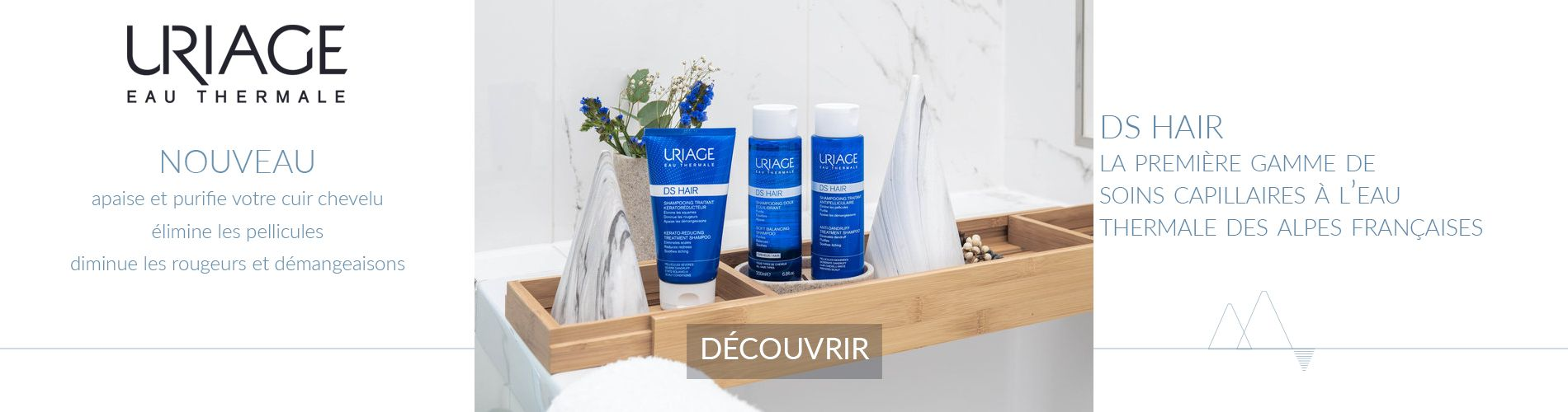 Uriage DS HAIR : soins capillaires et antipelliculaires