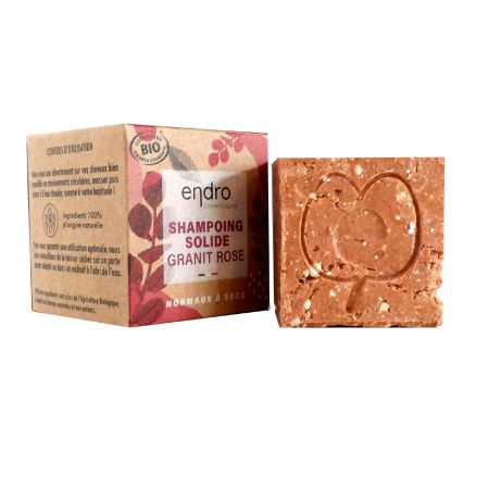 Shampoing solide Endro Granit Rose cheveux normaux à secs 100g