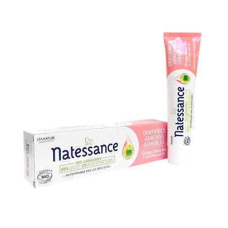 Dentifrice gencives sensibles Natessance 75ml