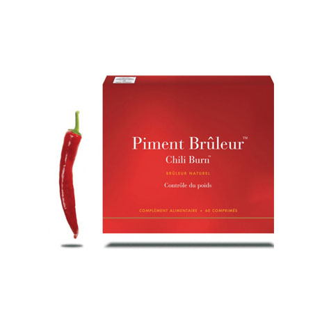 Piment Brûleur Chili Burn New Nordic  60 Comprimés