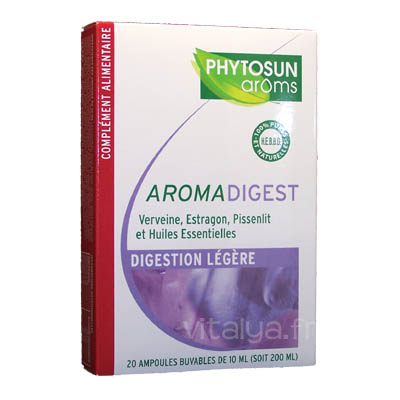 Aromadigest Digestion L�g�re Phytosun Ar�ms 20 Ampoules