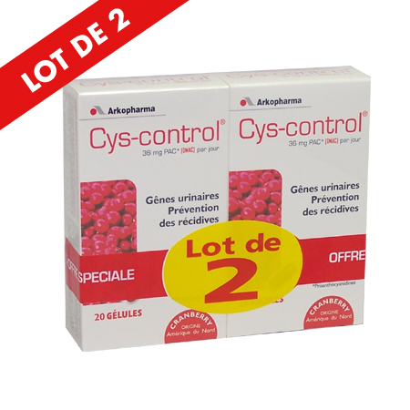 Cys Control 20 Gelules LOT DE 2