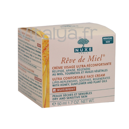 Nuxe R�ve de Miel Cr�me Visage Ultra-R�confortante Nuit 50ml