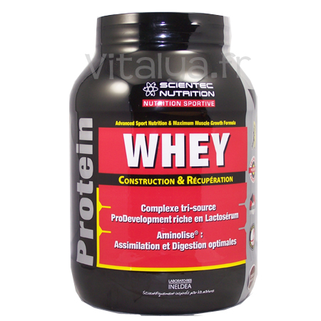 Whey Scientec Nutrition 750g Vanille