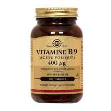 Vitamine B9Solgar Acide Folique 400 μg - 100 Comprimés