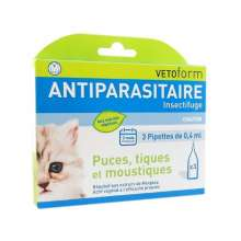 vetoform pipettes anti-puces chaton