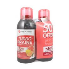 TurboDraine Minceur Forte Pharma 500ml Agrumes Lot de 2