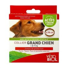 Collier antiparasitaire grand chien x 1 Vétobiol