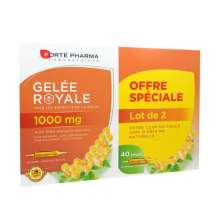 Gelée Royale 1000mg Forté Pharma 20 ampoules Lot de 2