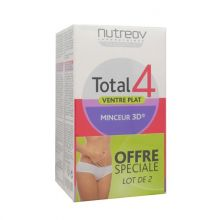 Total 4 ventre plat Nutreov 30 gélules Lot de 2